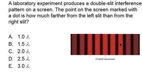 interference pattern lab solved a laboratory experiment produces a double slit int