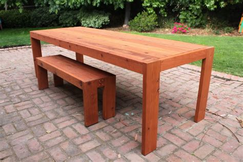 diy table bench panoramio photo of diy patio table and bench