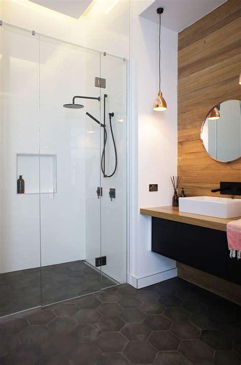 Badezimmer Dunkle Fliesen by Bathroom Tile Ideas Grey Hexagon Tiles Contemporist
