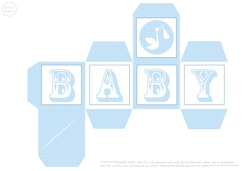 Baby Block Template 6 best images of baby blocks printable printable baby