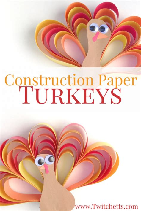 How To Make A Turkey From Construction Paper - construction paper turkey craft thanksgiving crafts for
