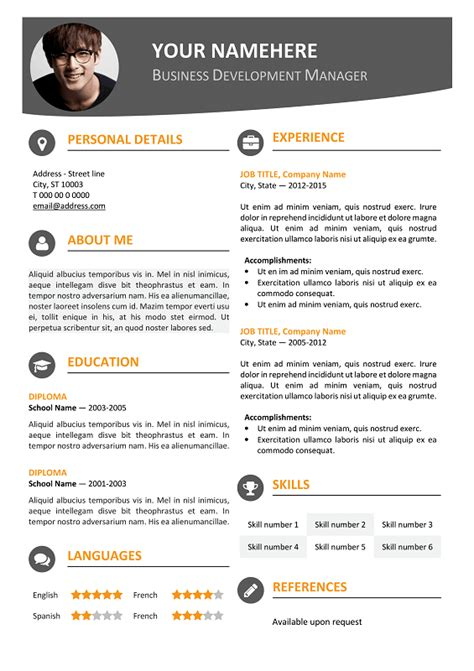 modern resume template word 2007 hongdae modern resume template