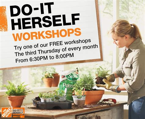 Home Depot Do It Herself Workshop by Do It Herself Workshop A Giveaway C R A F T