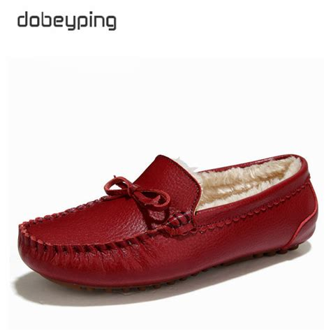 loafers winter winter fur loafers slip on leather flats warm