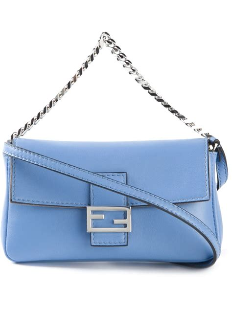 Fendi Micro 2face Baguette fendi baguette micro cross bag in blue lyst
