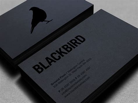 blackbird business card template best 25 cool business cards ideas on awesome