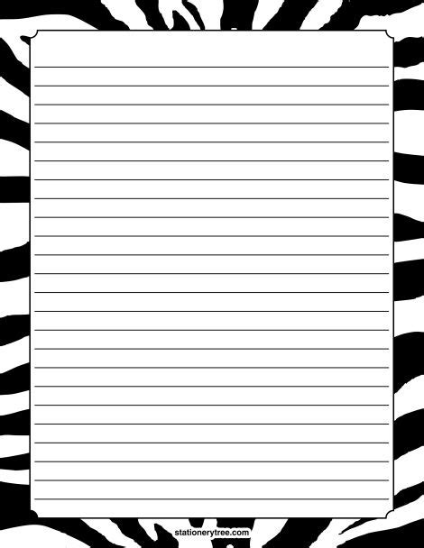 printable animal lined paper 21 best images about printable stationary on pinterest