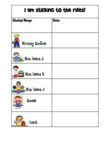 behavior sticker chart template doc 736568 behaviour chart template 10 best ideas