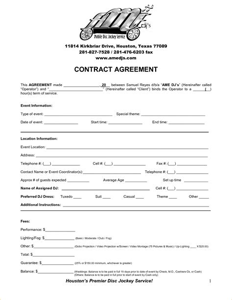Contract Agreement Letter Pdf 7 Contract Template Pdf Timeline Template