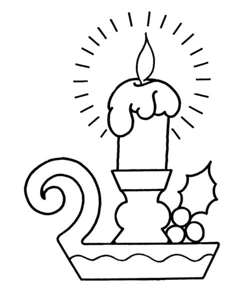 christmas candle pictures az coloring pages