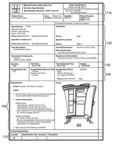 patent specification template patent us7330856 item specification object management