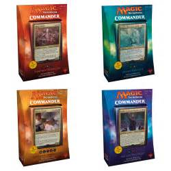 magic commander deck magic the gathering commander 2017 set of 4 decks