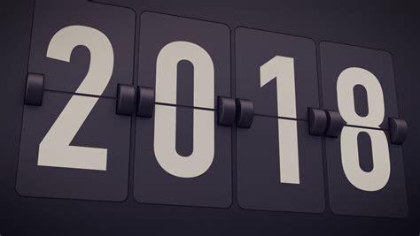 aftellende klok 2017 2018 new year concept set of digital countdown