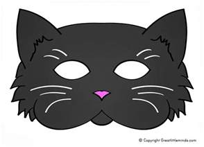 Cat Mask Template by Early Play Templates 5 Printable Cat Masks To Make
