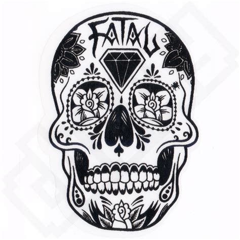 tattoo decals fatal mexican skull skate graffiti sticker