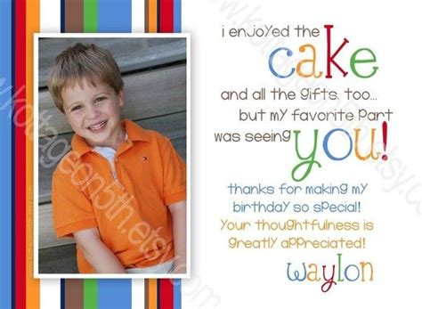 1st Birthday Thank You Card Wording Thank You Card Wording First Birthday Pinterest