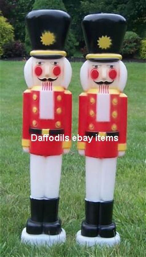 large nutcracker pair light up outdoor plastic christmas