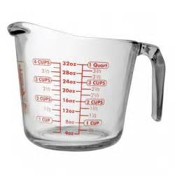 Glass Kitchen Canisters anchor hocking 32 oz open handled measuring cup