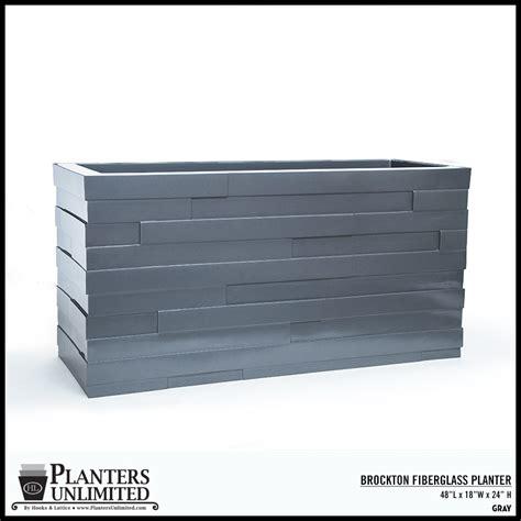 Fiberglass Rectangular Planter by Outdoor Planter Boxes Modern Fiberglass Planters