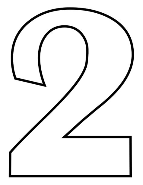 coloring page number 2 file classic alphabet numbers 2 at coloring pages for