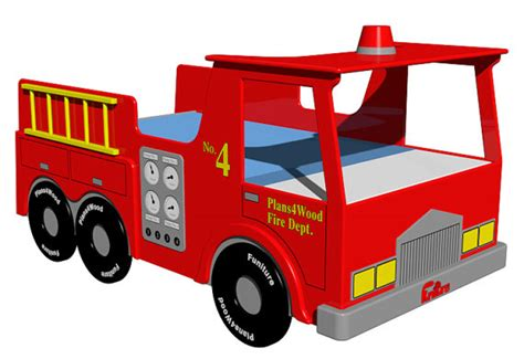 fire truck twin bed digital download fire truck twin size bed woodworking plan