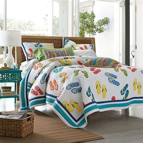 beach theme comforters flip flop quilt by the company store florida condo ideas
