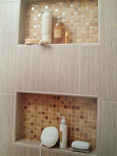 built in shower shelving outhouse reno