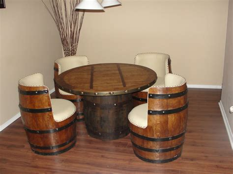 Wooden Barrel Chairs by Tequila White Oak Barrel Chair