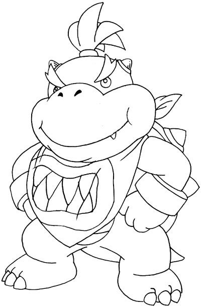 how to draw bowser from mario bros step 1 dark brown hairs