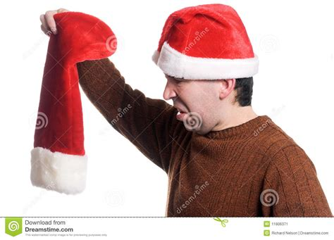 empty christmas stocking stock image image 11806371