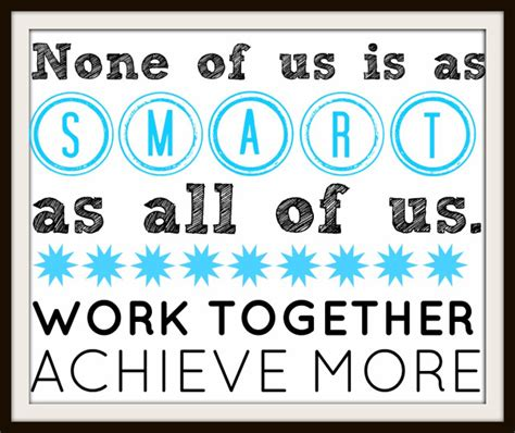 Printable Quotes About Teamwork | free printable poster for teamwork motivation at work or