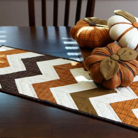 fall table runners to stitch a fall theme table runner and trio of stuffed