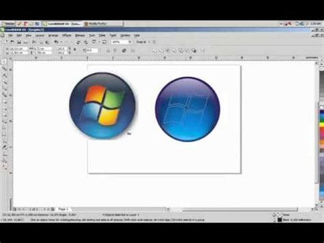 corel draw x4 windows 8 windows vista logo in coreldraw x4 youtube
