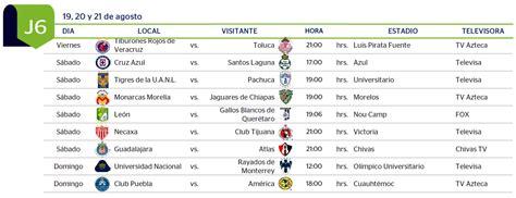 Calendario De Juegos Liga Mx Jornada 16 Apertura Liga Mx 2016 Calendariolaboral Mx