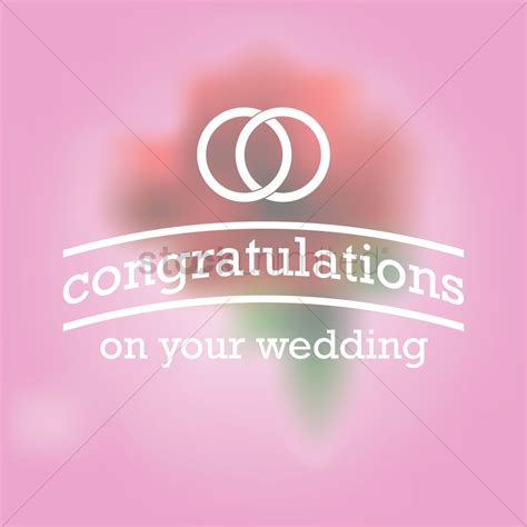 Wedding Congratulations Graphics by Congratulations On Your Wedding Greeting Vector Image