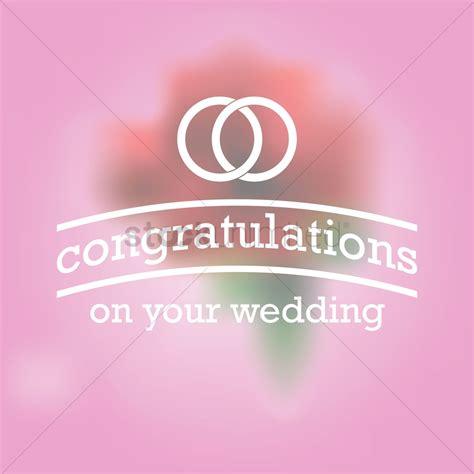 wedding congratulations vector congratulations on your wedding greeting vector image