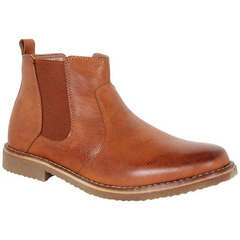 mens italian ankle boots mens italian faux leather casual formal dealer chelsea