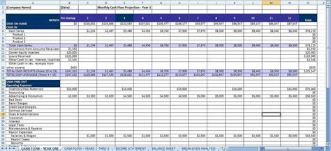 proforma balance sheet template for excel excel templates