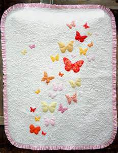 Applique Baby Quilt Patterns Free by Butterflies A Flutter Baby Quilt Pattern Favequilts