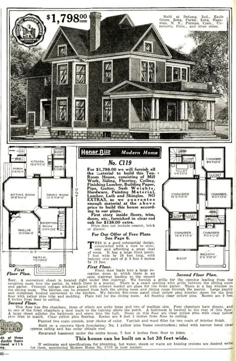 Sears Roebuck House Plans 1906 Sears Modern Home 119 Sears Modern Homes