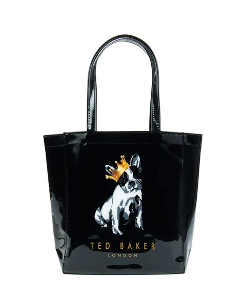 teds dogs ted baker kincon cotton small shopper in black lyst