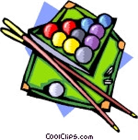 pool table with and cues vector clip