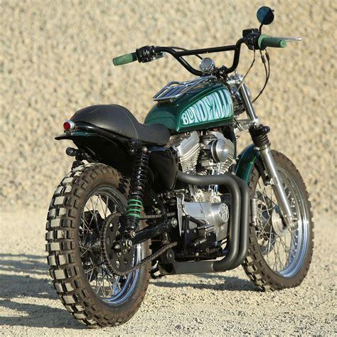 Motorradgarage Harley by Blondezilla Motolady S Sportster Scrambler Motorcycles