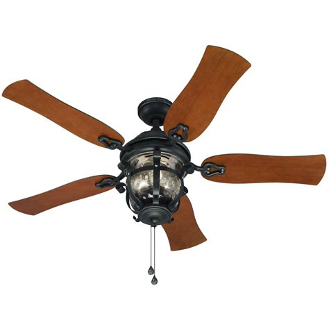 farmhouse ceiling fan lowes shop harbor lake placido 52 in black iron indoor