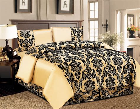 Comforter Cover Set 4 Pcs Duvet Cover Damask Quilted Luxury Bedding Comforter