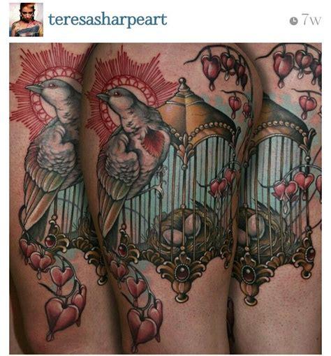 tattoo bleeding ink teresa sharpe bird nest cage best ink