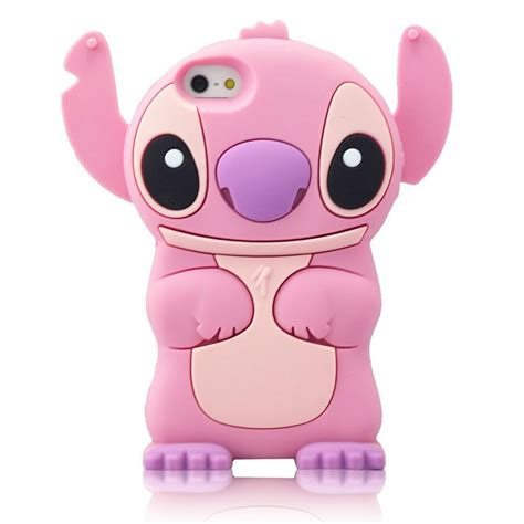 Disney Lilo Stitch Experiment Iphone 4 4s 5 5s 5c 6 6s 7 Plus for iphone 5c 3d lilo stitch soft silicone character