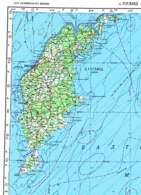 map ostrov gotland