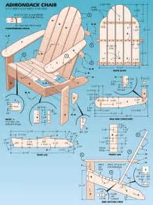 free woodworking plans adirondack chair plans
