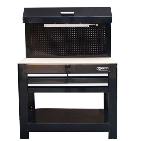 lowes work benches shop kobalt 36 in 3 drawer wood work bench at lowes com